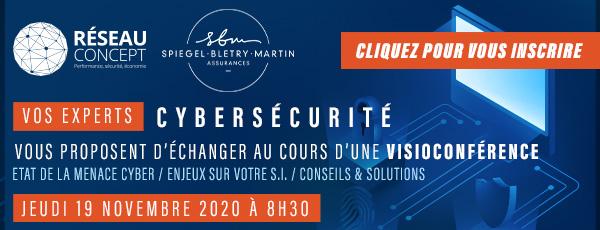 Réseau Concept visioconférence cybersécurité